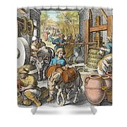The Production Of Olive Oil, Plate 13 Shower Curtain