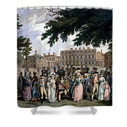 The Promenade In St James Park, C.1796 Shower Curtain