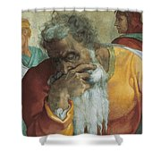 The Prophet Jeremiah Shower Curtain by Michelangelo