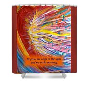 The Prophetic Song Shower Curtain