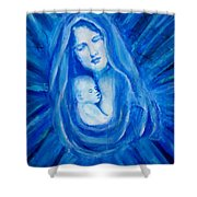 The Protecting Love Of A Mother And Her Child Shower Curtain by The Art With A Heart By Charlotte Phillips