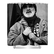 The Protester Shower Curtain