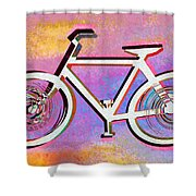 The Psychedelic Bicycle Shower Curtain