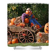The Pumpkin Farmer Shower Curtain