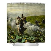 The Pumpkin Harvest Shower Curtain