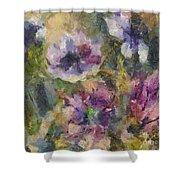 The Purple Bouquet Shower Curtain