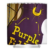 The Purple Fiddle Shower Curtain