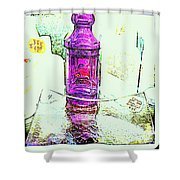 The Purple Medicine Bottle Shower Curtain