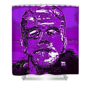 The Purple Monster Shower Curtain