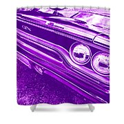The Purple People Eater - 1970 Plymouth Gtx Shower Curtain