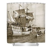 The Quebec Celebrations, 1908 Shower Curtain