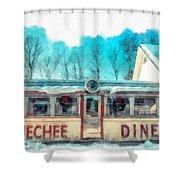 The Quechee Diner Vermont Shower Curtain