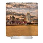 The Queen City Cincinnati Shower Curtain