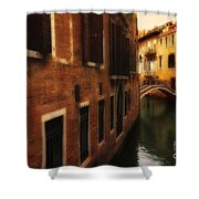 The Quiet Canal Shower Curtain