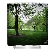 The Quiet Park Shower Curtain