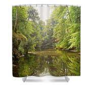 The Quiet River Shower Curtain