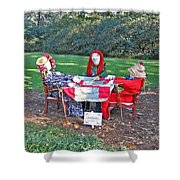 The Quilting Bee Scarecrows Shower Curtain