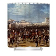 The Race Over, Print Made By Charles Shower Curtain