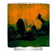 The Racer - 20130207 Shower Curtain by Wingsdomain Art and Photography