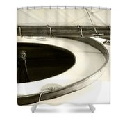 The Racing Sloop  Water Witch  Shower Curtain