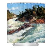 The Raging Rapids Shower Curtain