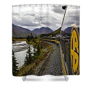 The Rails To Denali Shower Curtain