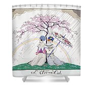 The Rainbow Shower Curtain by Georges Barbier