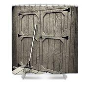 The Rake Shower Curtain by Patrick M Lynch