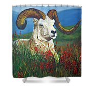 The Ram Shower Curtain
