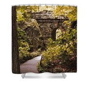 The Ramble Stone Arch Shower Curtain