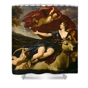 The Rape Of Europa Shower Curtain