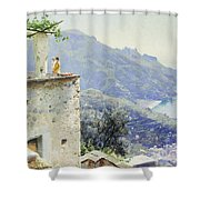 The Ravello Coastline Shower Curtain