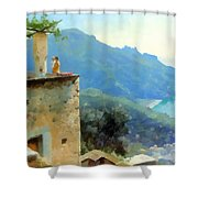 The Ravello Coastline Shower Curtain