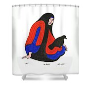 The Raven From Artist Proof 1 Shower Curtain