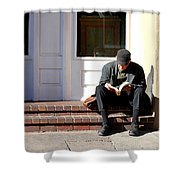 The Reader Shower Curtain