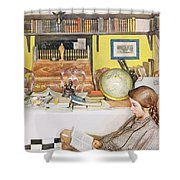 The Reading Room, Pub. In Lasst Licht Shower Curtain