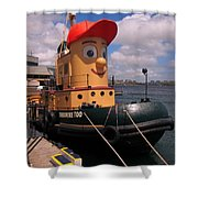 The Real Theodore Tug Boat Lives In Halifax Shower Curtain
