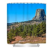 The Realm Of Devils Tower Shower Curtain