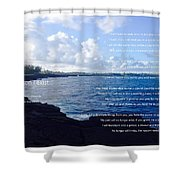 The Reason I Exist Shower Curtain