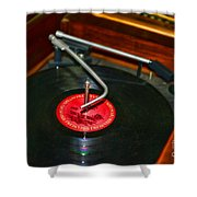 The Record Player Shower Curtain