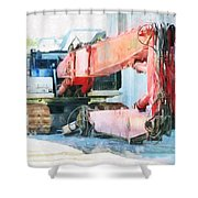 The Recumbent Metal Mantis Shower Curtain
