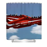 The Red Arrows Synchro Pair Shower Curtain