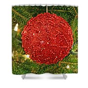 The Red Ball Shower Curtain
