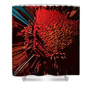 The Red Blob Of Courage Shower Curtain