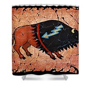 The Red  Buffalo Fresco Shower Curtain