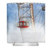 The Red Capsule Shower Curtain