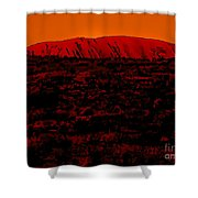 The Red Center D Shower Curtain
