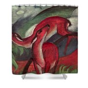The Red Deer Shower Curtain