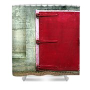 The Red Door Shower Curtain