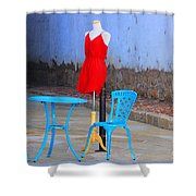 The Red Dress Lunch Special Shower Curtain